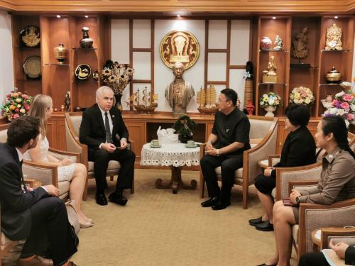 อุปฑูตรักษาราชการแทนเอกอัครราชฑูตสหรัฐอเมริกาประจำประเทศไทย เข้าพบ ผู้ว่าราชการจังหวัดเชียงใหม่