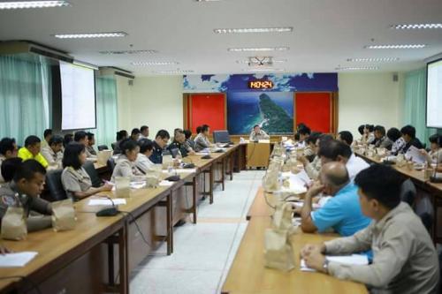 ชุมพรประชุมจัดทำแผนป้องกันและวางมาตรการรักษาความปลอดภัยทางทะเล