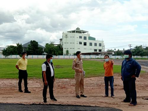 ลงพื้นที่ติดตามความคืบหน้าและผลสำเร็จของงานโครงการปรับสภาพสนามกีฬา ตำบลในเมือง อำเภอเมืองนครพนม จังหวัดนครพนม จำนวน 1 แห่ง (โรงเรียนปิยะมหาราชาลัย)