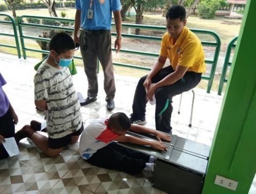 ทดสอบสมรรถภาพร่างกายให้กับเด็กในความอุปการะ ณ สถานสงเคราะห์เด็กชายบ้านหนองคาย
